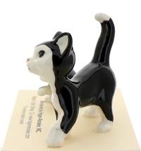 Hagen-Renaker Miniature Ceramic Cat Figurine Black and White Tuxedo Cat Set image 3