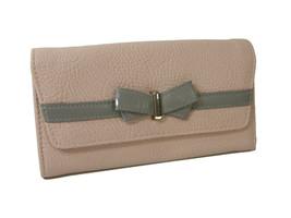 Jessica Simpson Logo Wallet Purse Hand Bag Blush Fog Pink Gray Linea Bow... - $39.59