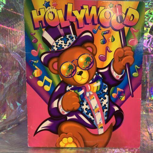 Yay! Vintage Lisa Frank 2 Pocket Folder Hollywood Bear 90s Era