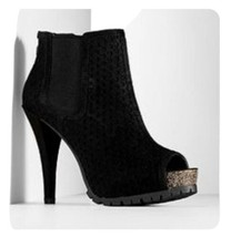 New Simply Vera By Vera Wang Womans Svlira Heels Booties Black Size 8.5 ... - $38.69
