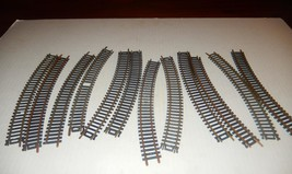 HO TRAINS-  12 SECTIONS BRASS CURVE TRACK- GOOD- S1 - $3.79