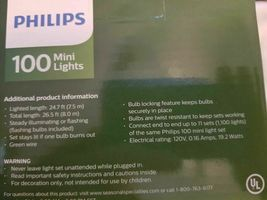 Philips 100ct Incandescent Mini String Lights Red Wedding Christmas Valentine's image 3