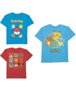 Pokemon Boys T-Shirts 3 Choices Size 6-7, 8, 10-12, 14-16 NWT - $8.99