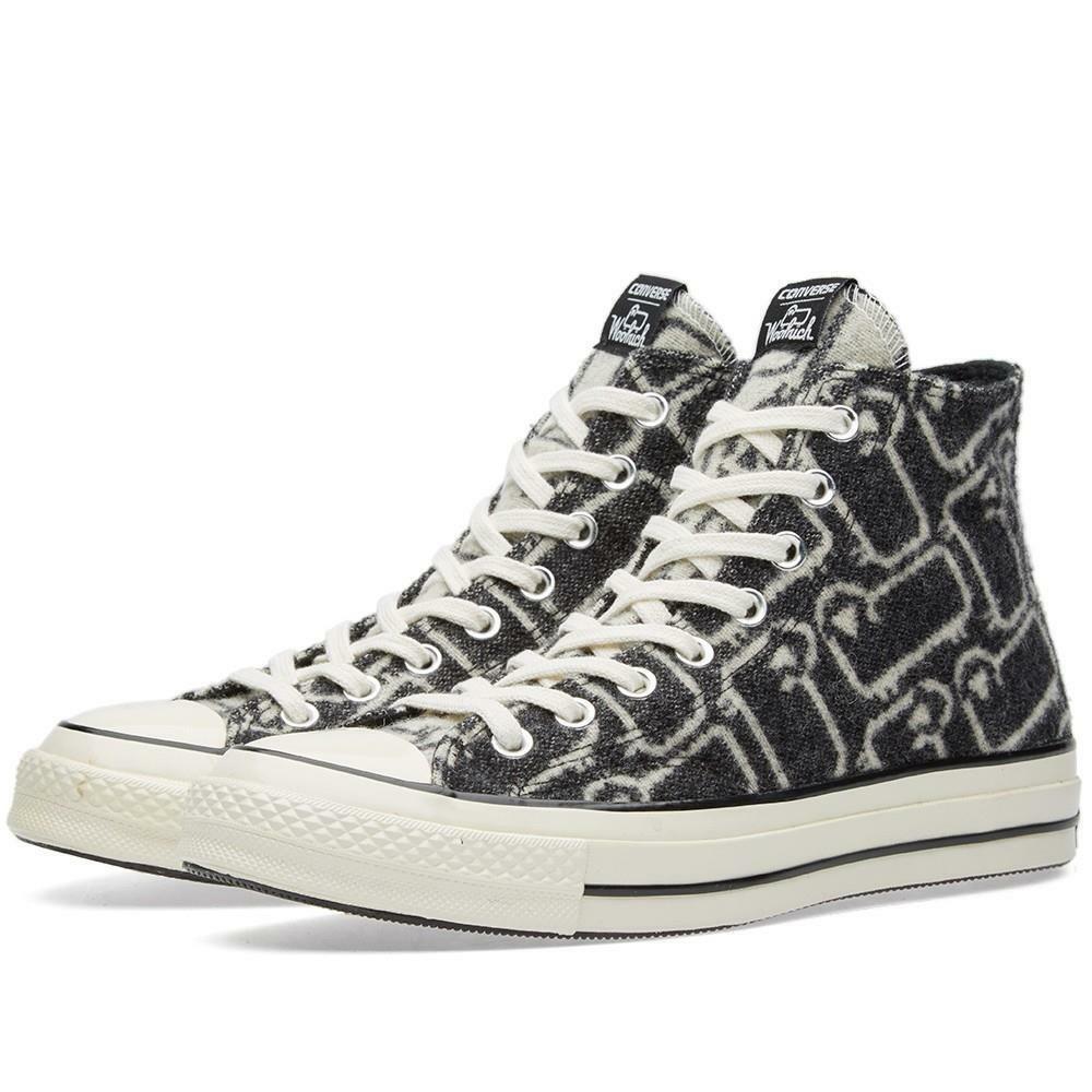 Converse WOOLRICH Wool Grey/Black Iconic SHEEP Hightop Shoes Unisex DISC NIB HTF