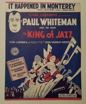 1930 IT HAPPENED IN MONTEREY Sheet Music KING OF JAZZ - $9.50