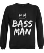I'm A Bass Man Fishing Apparel Crewneck Sweatshirts Angler Gift Sweaters... - $39.97