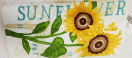 "1 PRINTED KITCHEN TERRY TOWEL (14"" x 24"") THE SUNFLOWER, TL - $7.91"
