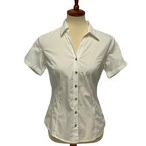 Columbia Sportwear Company women's blouse white button front size S - $18.28