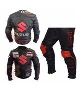 SUZUKI ICON BLACK MOTORBIKE MOTORCYCLE 2 PIECE COWHIDE LEATHER ARMOURED ... - $339.99