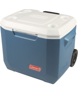 Coleman Camping Picnic Outdoor Portable Wheeled Cooler w Wheels 50-Quart... - $50.48