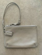 Coach White Leather Small Wristlet Wallet Mini Bag Coin Holder - $24.75