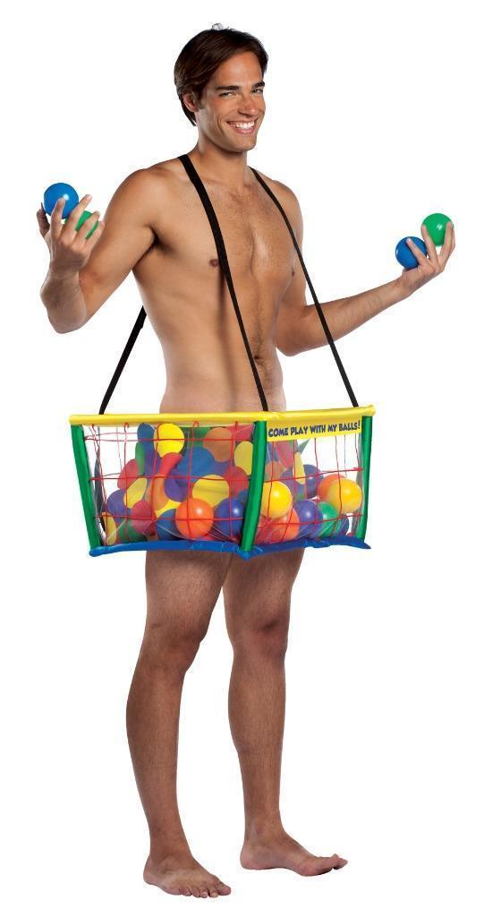 Ball Pit Costume Adult Cage Tunic Suspenders Halloween Party Unique GC6963