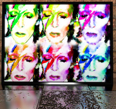 David Bowie Repeat Pattern Painting Poster Digi... - $11.99 - $49.99
