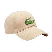 Lacoste Men's Classic Gabardine Cotton Big Croc Logo Adjustable Hat Cap (Beige) image 1