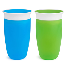 Munchkin Miracle 360 Toddler Sippy Cup Green/Blue 10 Ounce 2 Count Spill... - $17.21