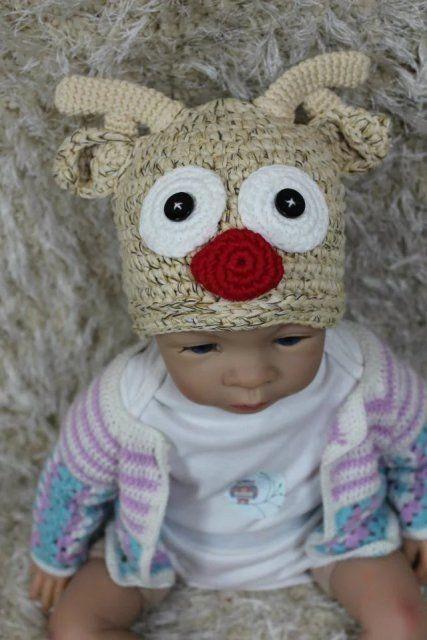85cae8ef665 S l1600. S l1600. Previous. New Knit Crochet Newborn Baby Child Kids  Reindeer Elk Deer Hat Cap Beanie Beige