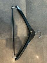 Black  SHINY WOODEN  Clothes Hanger  MARKED SAKS FIFTH AVENUE  Black  WOOD - $18.76