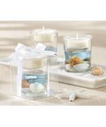 12 Seashell Gel Tealight Holders Beach Favors Wedding Favors - $34.36