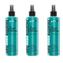 Healthy Sexy Hair Soy Tri-Wheat Leave-In Conditioner 8.5 Ounce 3 Pack - $44.55