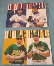 "1997 Fleer Ultra ""Double Trouble"" Baseball Insert cards Lot Of 2 Cards #6 & 8 - $1.00"
