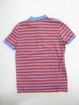 Gap Polo Shirt Peach & Blue Striped the Modern Pique Polo Shirt M $30 image 3