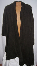 NWT Noppies Maternity Dark Brown Sweater Poncho Shawl Misses XL/2X - $25.73