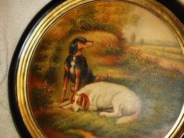 Spaniel Dog Friends At Rest Vintage Oil Paintin... - $425.00