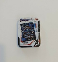 """Avengers Jigsaw Puzzle In Collector's Tin, Age 6+, 5"""" X 7"""", 50 Pieces-NEW - $4.99"""
