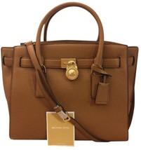 Michael Kors Large Hamilton Traveler Acorn Leather Handbag Originally $398 - $180.49