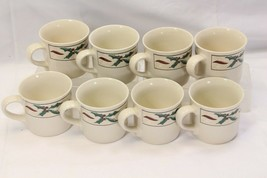 Farberware Holly Berry Cups Mugs Lot of 8 - $39.19