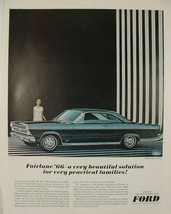 1966 FORd FAIRLANE 500 XL FOR PRACTICAL FAMILIES PRINT AD - $9.99