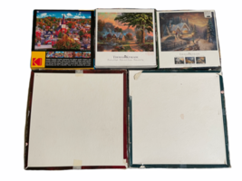Lot of 5 Jigsaw Puzzle 1000PC Thomas Kinkade Kodak Victorian Garden II image 3