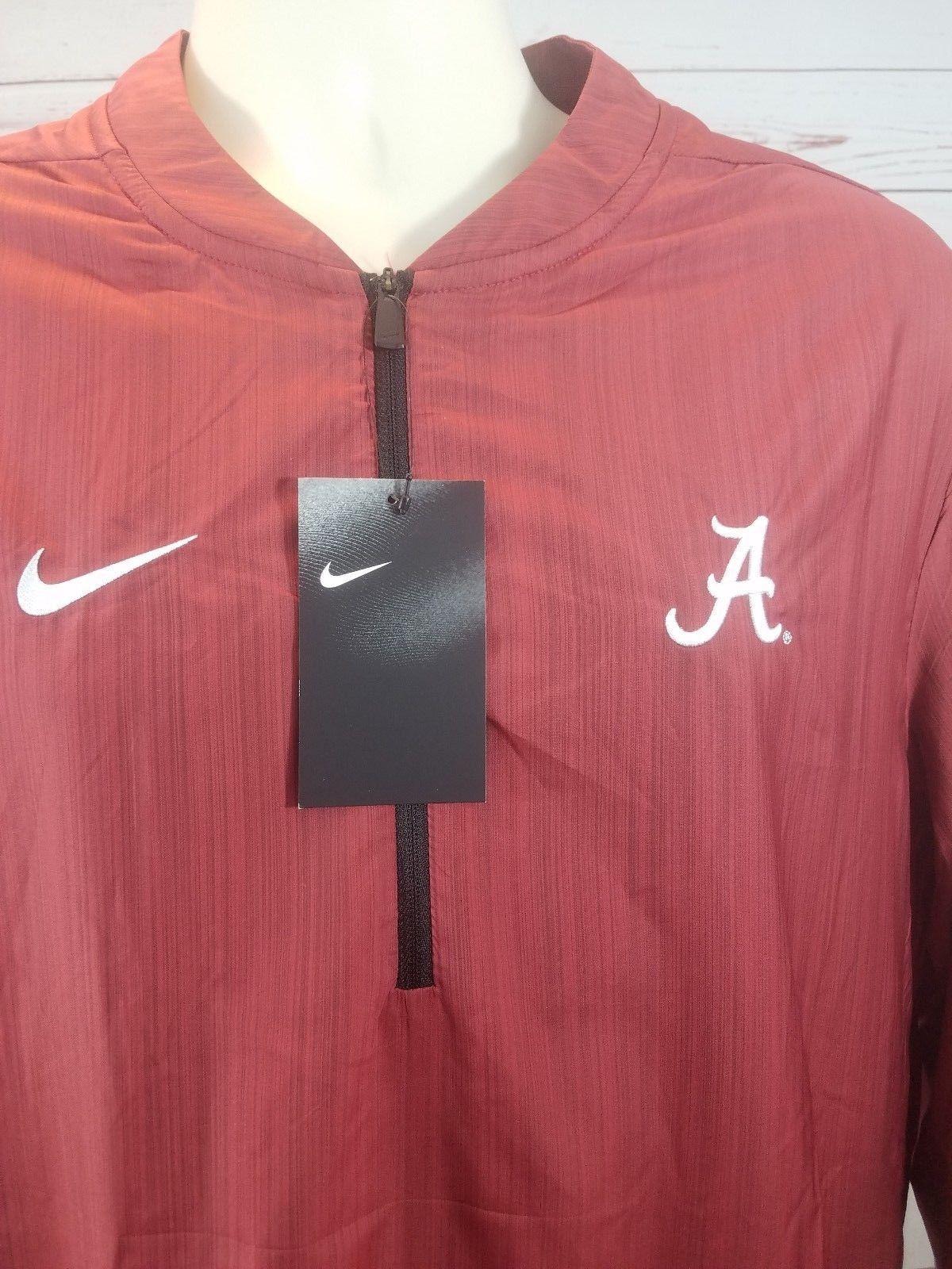 ea147eb0 S l1600. S l1600. Previous. Nike Alabama Crimson Tide Lockdown Jacket Men's  Large Red 1/4 Zip ...