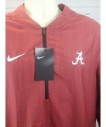 Nike Alabama Crimson Tide Lockdown Jacket Men's Large Red 1/4 Zip $75 90... - $31.04