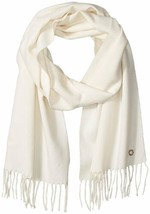 Calvin Klein Women's Solid Woven Scarf, Eggshell, One Size - $25.90