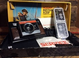 VINTAGE KODAK INSTAMATIC X35F CAMERA WITH BOX - $15.97