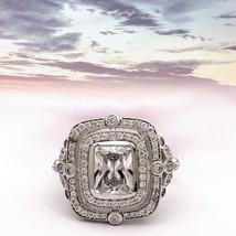 Shine Jewel 925 FINE Silver 2.50 Ct White Zircon Solitaire Accents Hot Ring - $23.50
