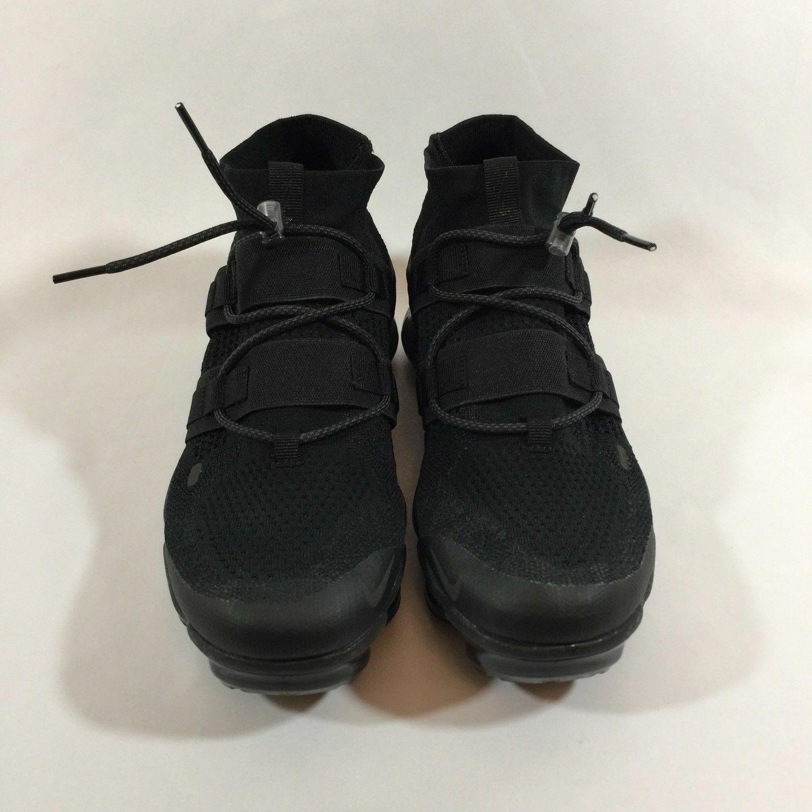 4dc54996a036 Nike Air Vapormax Flyknit Utility Triple Black Twist ACG AH6834-001 Men Sz.  8.5