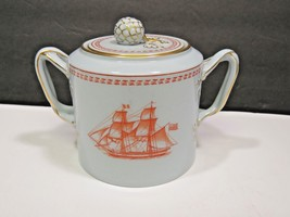 """Copeland Spode Covered Sugar 3 1/4"""" Trade Winds Red Newport Tall Ships  - $59.40"""