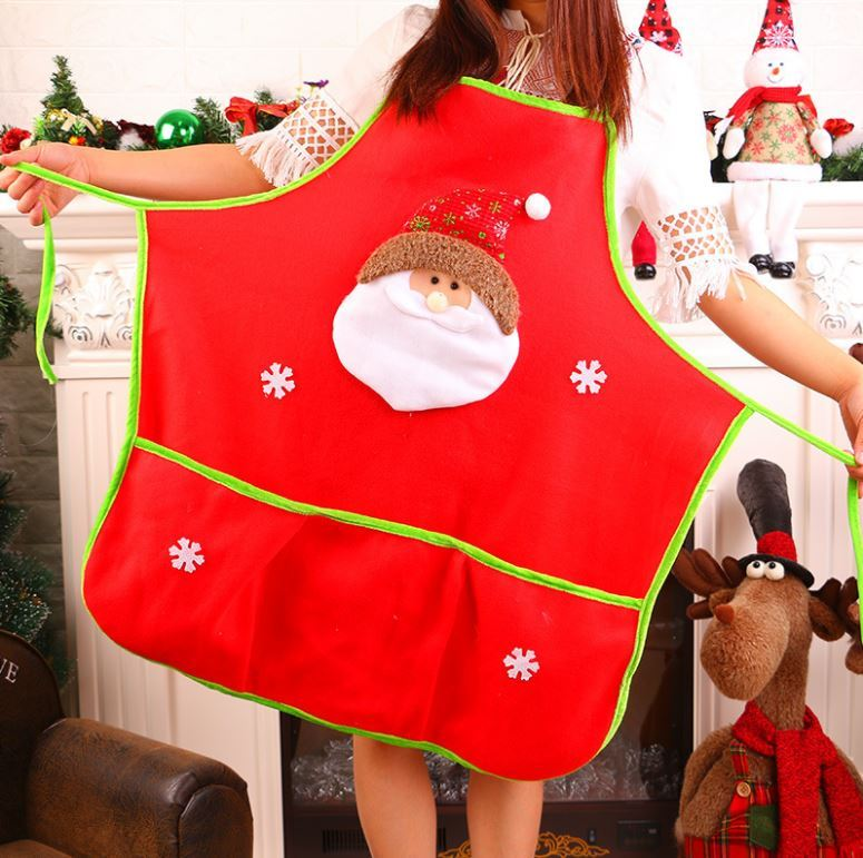 Primary image for Chistmas Holiday Kitchen Apron with 3 Pockets And Extra Long Ties For Cooking