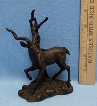 Franklin Mint HEAVY Bronze Greater Kudu Figurine 1976 Don Pollard Statue - $174.19