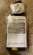 BEACHBODY - Yellow Black 1 LB ea. Ankle Weights Set and Wrist Weights .5... - $20.76