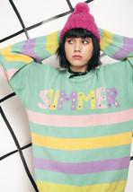 Summer knit jumper - 90s vintage pastel sweater - $40.26