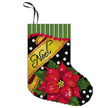 Noel Stocking Kit christmas cross stitch kit Colonial Needle  - $11.70