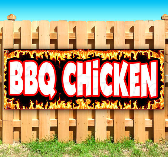 1.5'X4' BBQ BANNER Outdoor Sign Barbeque Chicken Pulled ...   Bbq Chicken Sign