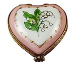 MINI HEART LILY OF THE VALLEY LIMOGES BOX