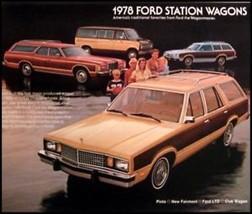 1978 Ford Station Wagon Brochure LTD Fairmont Squire - $6.87