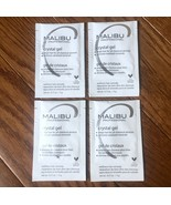 x4 Malibu C Crystal Gel Treatments + 4 Caps Remove Rust Color & Stain Pr... - $30.28