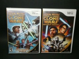 (2) Star Wars for Nintendo Wii games: The Clone Wars - + - Lightsaber Duels - $8.00
