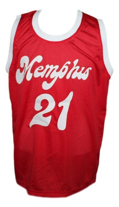 Larry finch memphis sounds aba retro basketball jersey red   1
